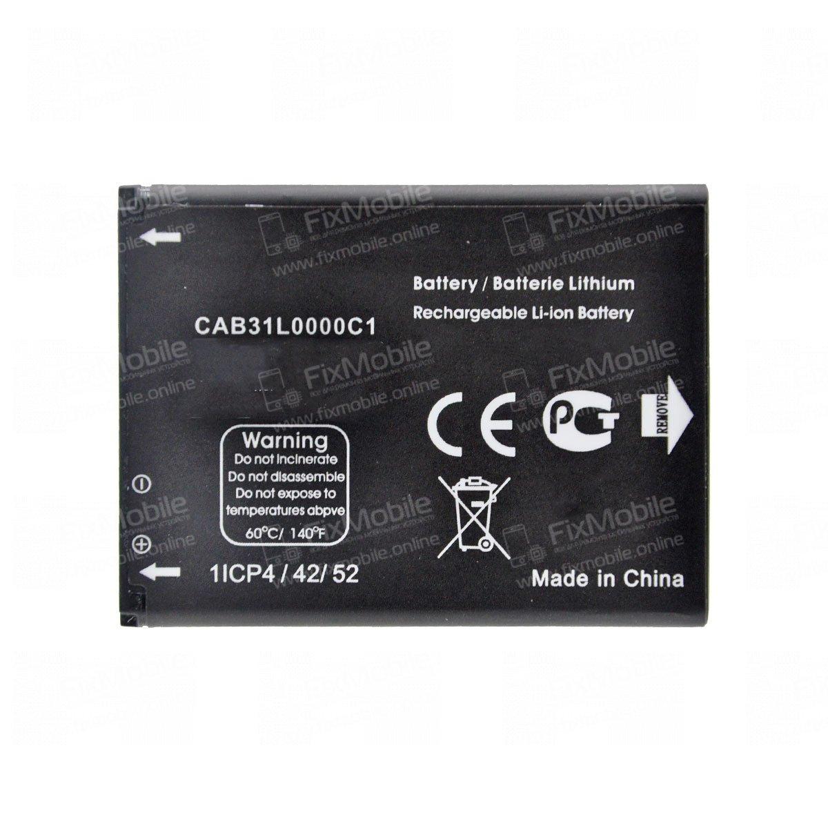 Аккумуляторная батарея для Alcatel One Touch 2004G CAB31L0000C1